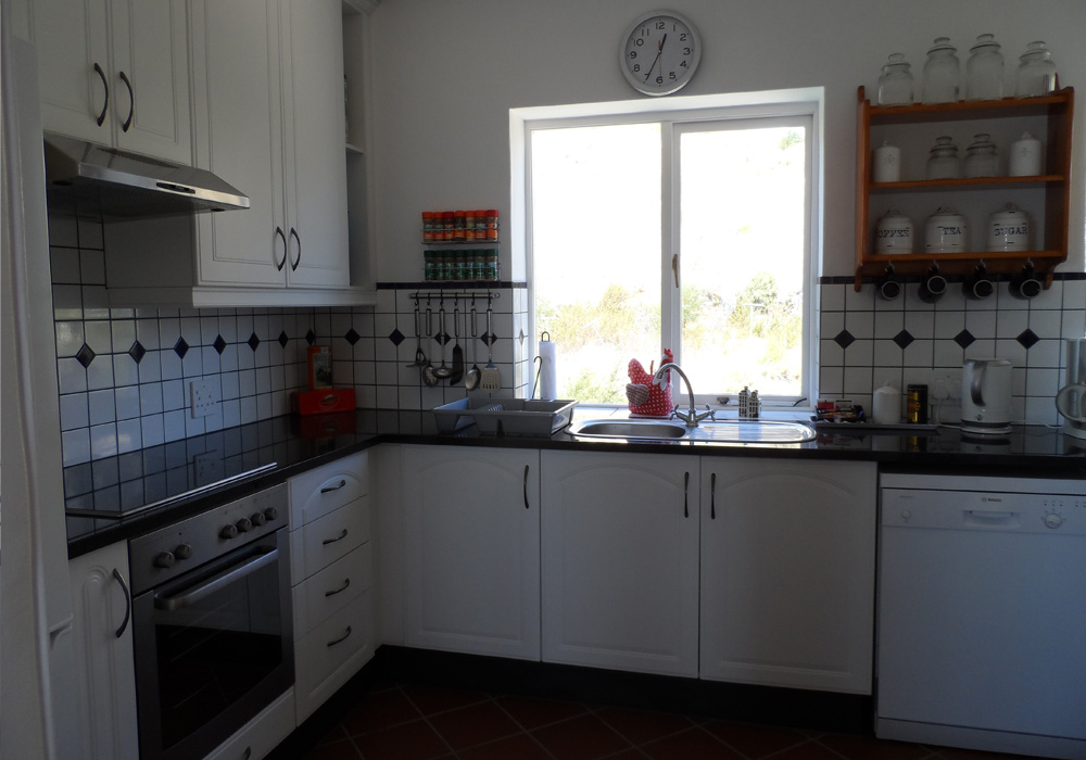 The kitchen has everything you need for a full self catering experience.